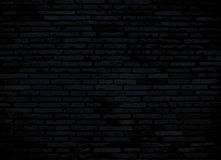 Ciemny ściana z cegieł dla tła Zdjęcia Royalty Free