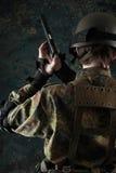 ciemny żołnierz Zdjęcie Royalty Free