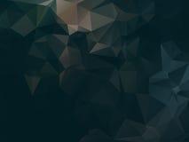 Ciemny abstrakcjonistyczny tło wielobok Obraz Stock