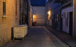 Ciemny Alleyway tło Obrazy Royalty Free