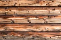 Ciemny brąz sosnowa drewniana ściana Zdjęcia Royalty Free