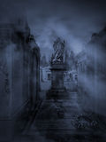 Ciemny cmentarz Zdjęcie Royalty Free