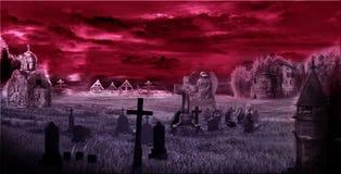 Ciemny cmentarz, digipak, sztuka, świątynia Obraz Stock