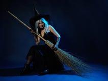 Ciemny czarownica portret zdjęcie stock