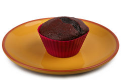 Ciemny czekoladowy słodka bułeczka Zdjęcie Royalty Free