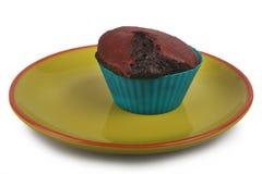 Ciemny czekoladowy słodka bułeczka Obrazy Stock