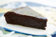 Ciemny Czekoladowy tort fotografia stock