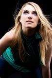 Ciemny dramatyczny portret piękny blondyn Fotografia Royalty Free