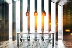 Ciemny drewniany strychowy jadalni wnętrze royalty ilustracja