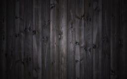 Ciemny drewniany tło, czarna tekstura zdjęcia royalty free