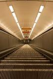 Ciemny eskalator strzelający od above Fotografia Royalty Free