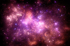 Ciemny głębokiej przestrzeni starfield Obraz Stock