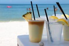 Ciemny i Burzowy na plaży Fotografia Royalty Free