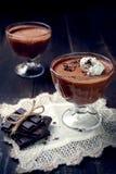 Ciemny i delikatny czekoladowy mousse Obraz Royalty Free
