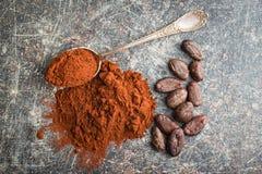 Ciemny kakaowy proszek Obraz Royalty Free