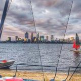 Ciemny Markotny Perth miasto zdjęcie stock