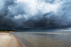 Ciemny morze bałtyckie Obrazy Royalty Free