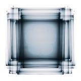 Ciemny półprzezroczysty multilayer fractal na bielu fotografia stock