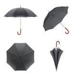 Ciemny parasol odizolowywający na białym tle ilustracja 3 d royalty ilustracja