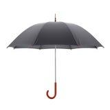 Ciemny parasol odizolowywający na białym tle ilustracja 3 d ilustracja wektor