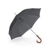 Ciemny parasol odizolowywający na białym tle ilustracja 3 d ilustracji