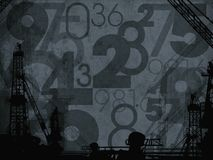 Ciemny przemysłowy liczba abstrakta tło Zdjęcie Royalty Free