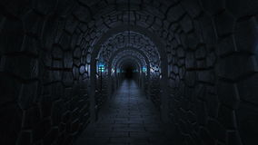 Ciemny straszny dungeon royalty ilustracja
