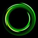 Ciemny szablon z zieleń okregów spiralami ilustracji