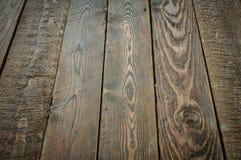 ciemny tekstury drewna Stary wieśniaka stół Fotografia Stock