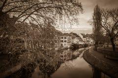Ciemny widok Strasburg obraz stock