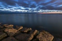 ciemny wschód słońca Obraz Stock