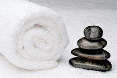 ciemny zdrój dryluje ręcznika Fotografia Stock