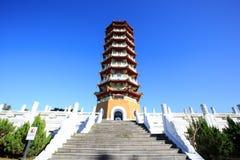 Cien塔在日月潭,台湾 库存照片