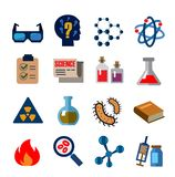 Cience icons Stock Photography