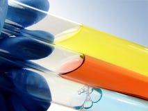 Ciencia - 3 tubos de prueba Fotografía de archivo