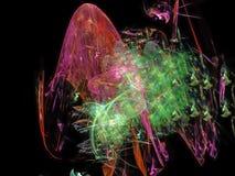 Ciencia brillante etérea de la facilidad del fondo ideal colorido futuro digital abstracto de la ilusión stock de ilustración