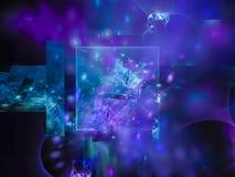 Ciencia brillante etérea de la facilidad del fondo surrealista colorido futuro digital abstracto de la ilusión stock de ilustración