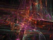 Ciencia brillante etérea del movimiento de la facilidad del fondo superficial futuro digital abstracto de la ilusión libre illustration