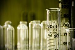 Ciencia - cilinders graduados 2 Fotografía de archivo libre de regalías