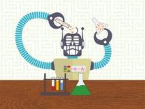 Ciencia de los datos y concepto del aprendizaje de máquina stock de ilustración