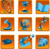 Ciencia de los iconos Imagenes de archivo