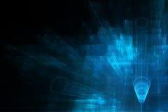 Ciencia del negocio o fondo abstracta de la tecnología stock de ilustración