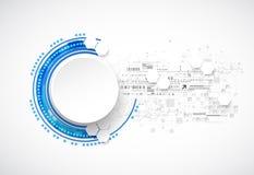 Ciencia del negocio o fondo azul abstracta de la tecnología