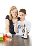 Ciencia en escuela Imagen de archivo libre de regalías