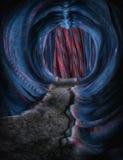 Ciencia ficción extranjera de la cueva ilustración del vector