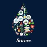 ciencia genética, icono de la bioquímica stock de ilustración