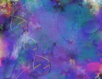 Ciencia o ciencia y genética Imagen de archivo libre de regalías
