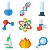 Ciencia plana del icono Imágenes de archivo libres de regalías