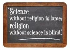 Ciencia y religión Foto de archivo libre de regalías