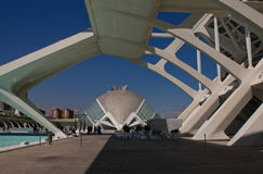 Ciencias Ciudad de Las Artes y, Valencia Lizenzfreie Stockfotos